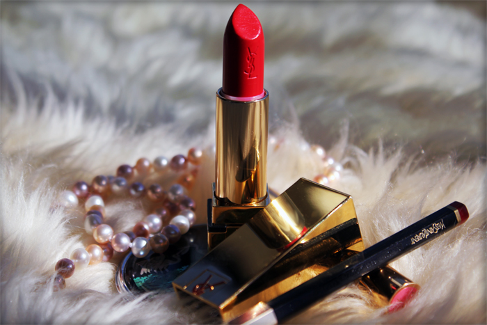 Yves Saint Laurent red lipstick
