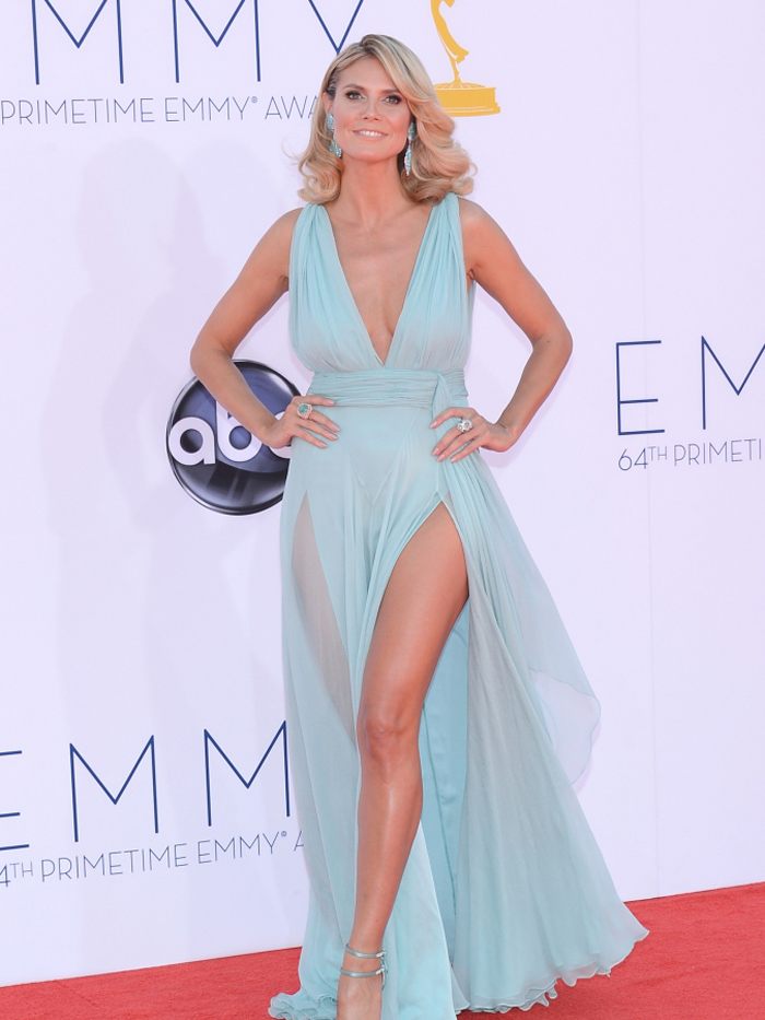 Heidi Klum at Emmy Awards 2012