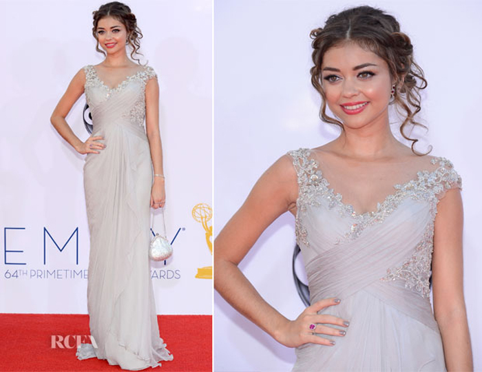 Sarah Hyland In Marchesa at Emmy Awards 2012