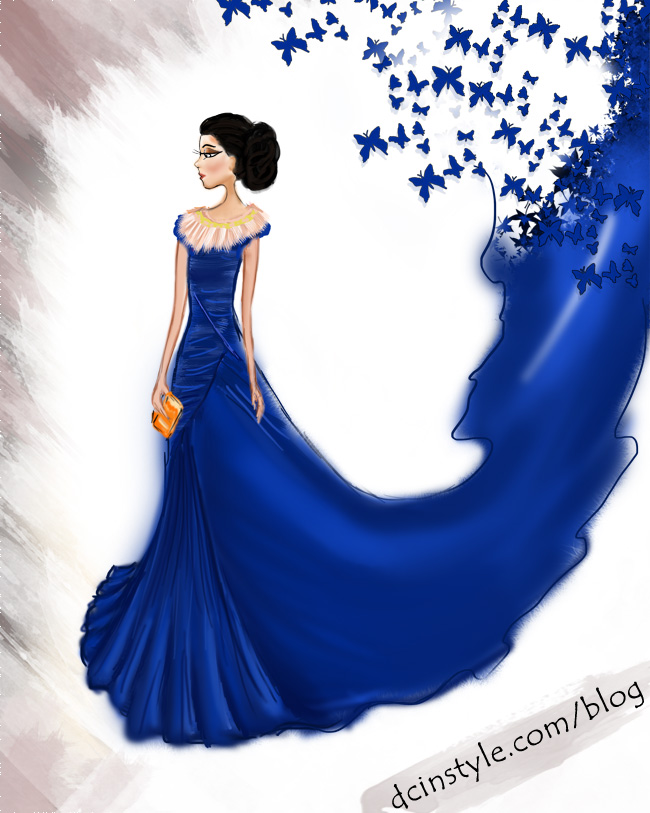 fashion illustration created in Photoshop, CG art, fashion inspiration, Wendy's lookbook, gorgeous dress illustration, fashion sketch