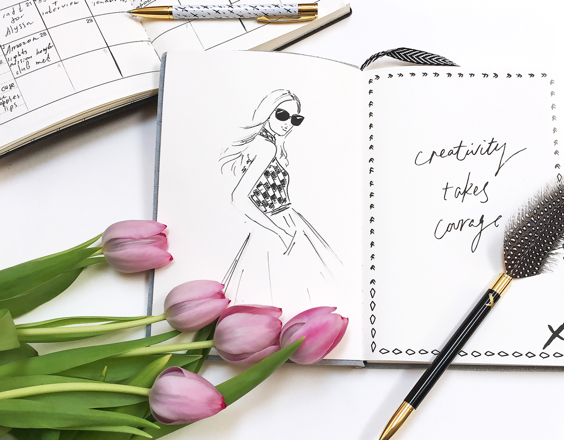 Instagram course, fashion illustrator Elena Fay