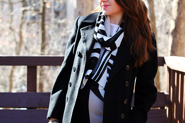 black and white look_Michael Kors_Calvin Klein_maternity style_fashion blog by Elena Fay