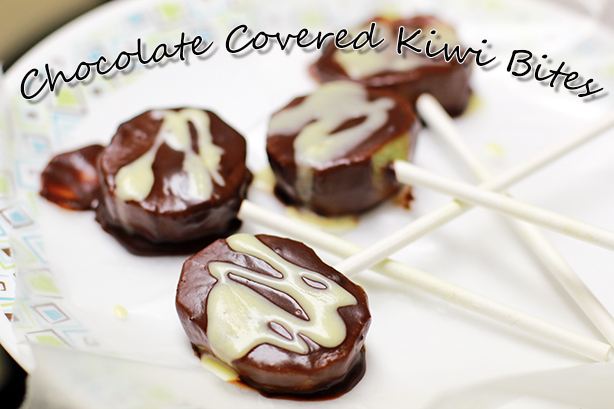 Chocolate Covered Kiwi Bites_healthy recipe_kiwi dessert_low calorie dessert_healthy recipe