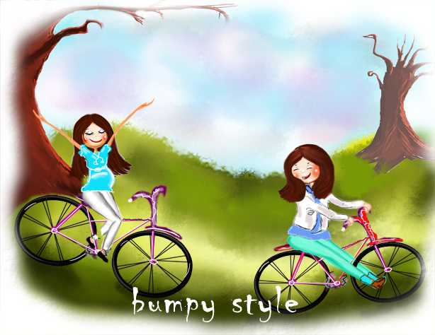 bumpy style illustration_cute drawing_art_sketch_fun drawing