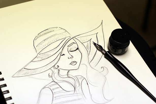 ink drawing_fashion inspiration_art_drawing_painting_sketch