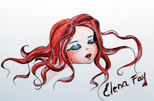 fashion illustration, watercolor drawing, sketch, art, illustration by Elena Fay