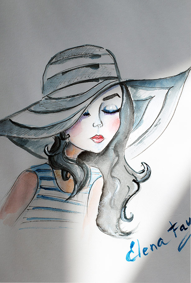 fashion illustration_fashion sketch_drawing_art_painting_art by Elena FAy