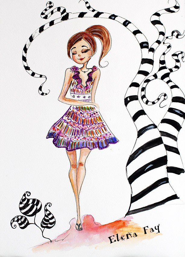 cute illustration, fashion illustration, drawing, art, sketch, zentangles, creative blog