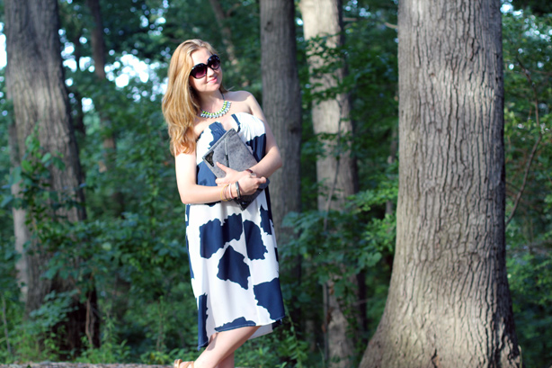 cow print dress, skirt dress, style blog, Elena Fay, maternity style