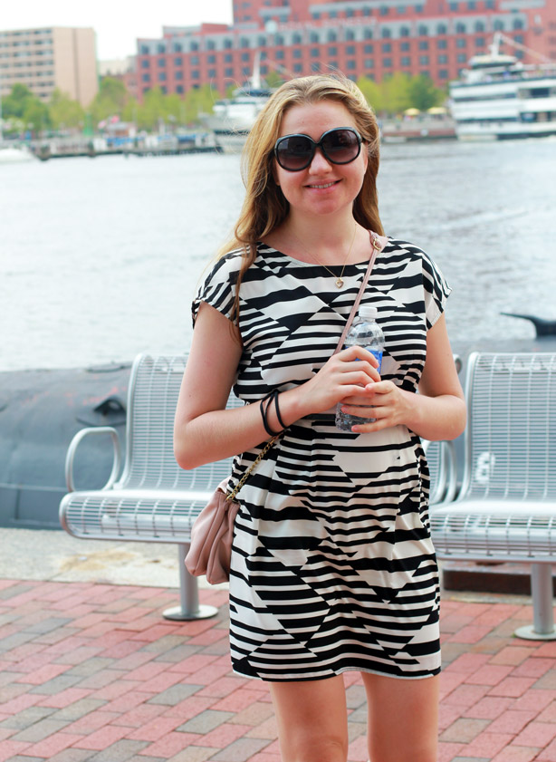 summer dress, Langford Market, stripes, style,