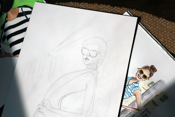 fashion illustrations, drawings, art, sketch, style