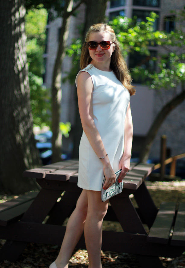Philosophy dress, LWD, cute little dress, embelished shoulder