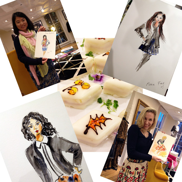 live sketching at Juicy Couture event