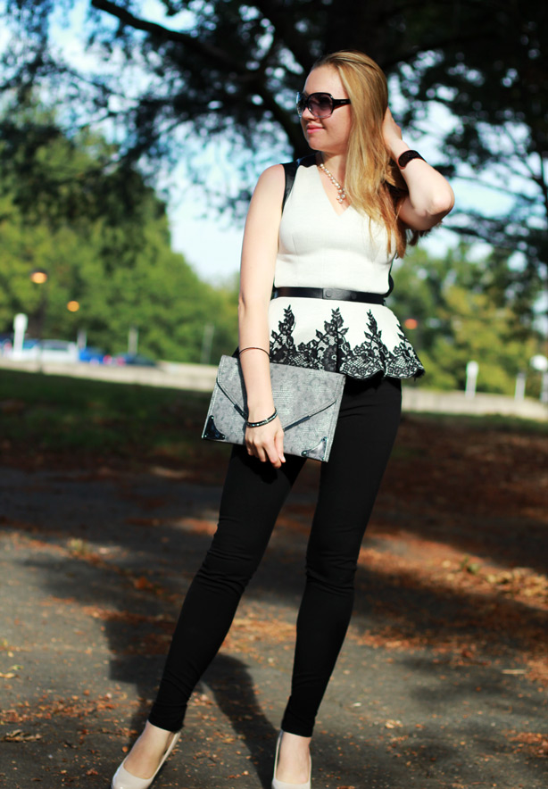Robert Rodriguez Lace Appliqu� Peplum Top, peplum top, Monday bloom, DC fashion blogger