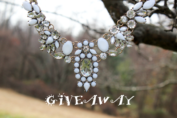 statement necklace, giveaway