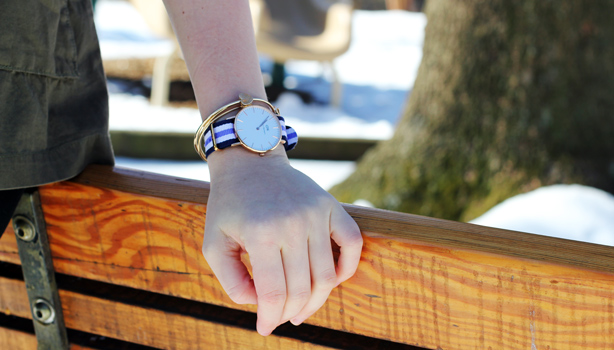 daniel Wellington watch, CC Lake jacket