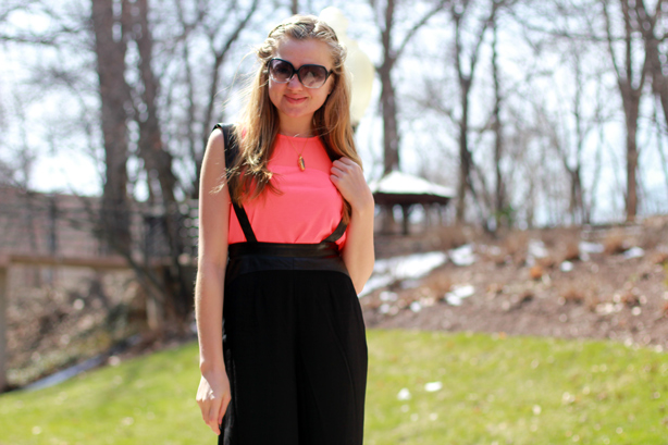 H&M sheer top, nordstrom pants, spring look