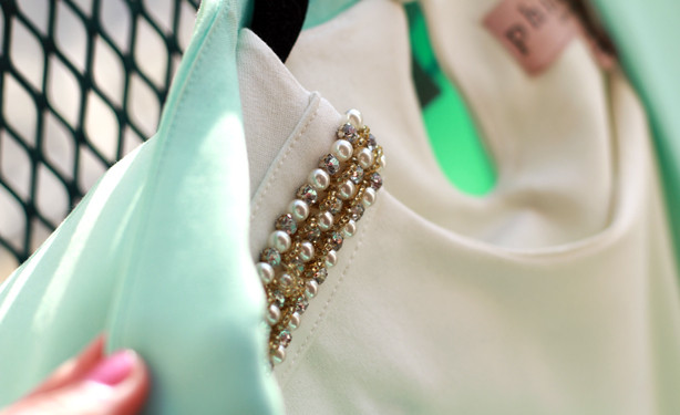embellished details on the shoulders