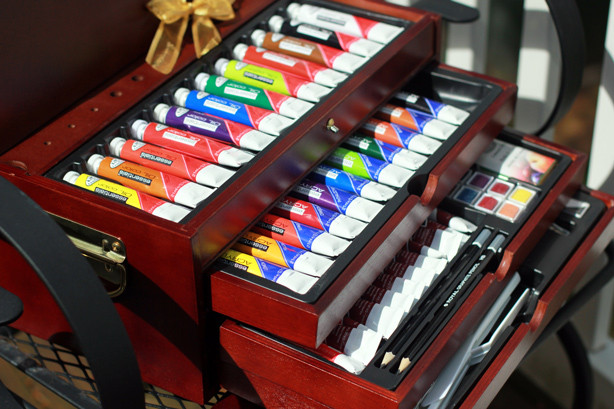 watercolor set, paint set, tube paint set