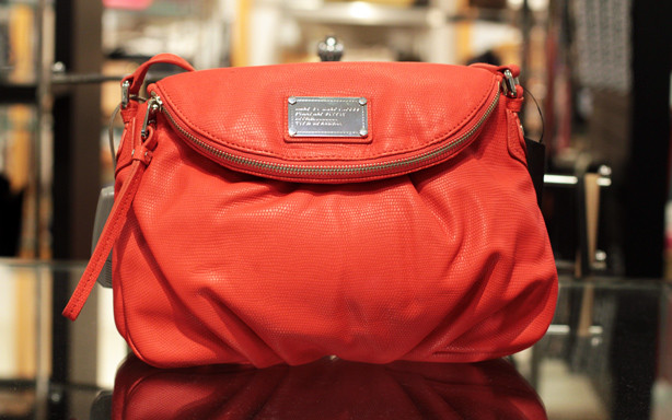 red bag, gorgeous bag