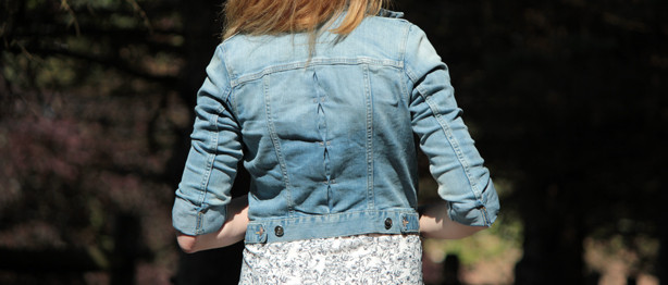 H&M dress, H&M denim jacket, summer look