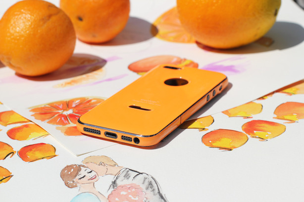 exofab iPhone case, oranges, pretty shot