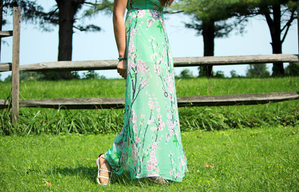 sheinside maxi dress, floral maxi dress, summer maxi dress