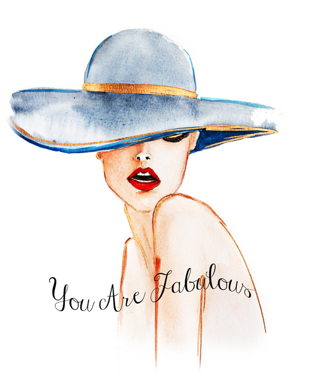 fashion illustration, fashion portrait, you are fabulous