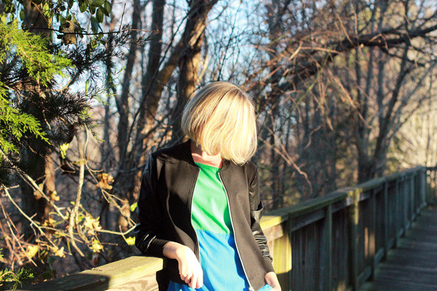 dora landa jacket, Monday bloom linkup, style