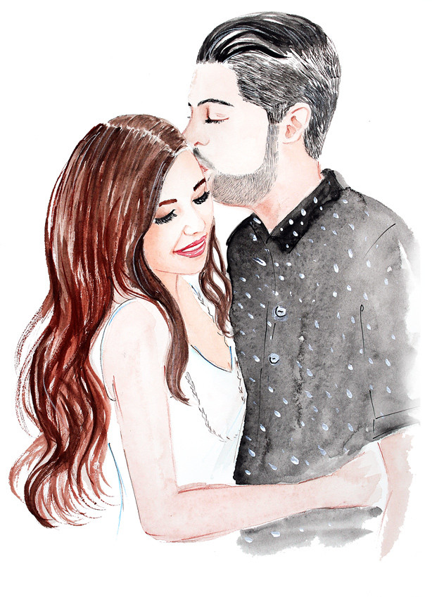 custom artwork, watercolor commission, custom portrait