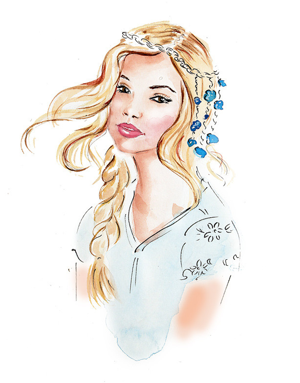 fashion illustration, watercolor illustration