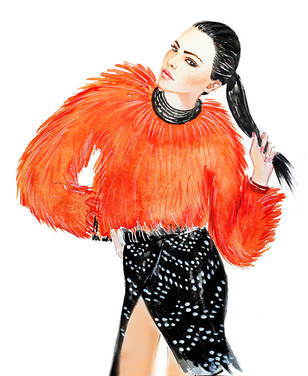 fashion illustration, watercolor illustration, fashion illustration blog