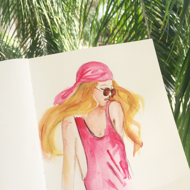 creative blog, illustration, fashion illustration, watercolor art, art by Elena Fay