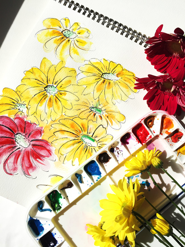 watercolor art, creative blog, art by Elena Fay