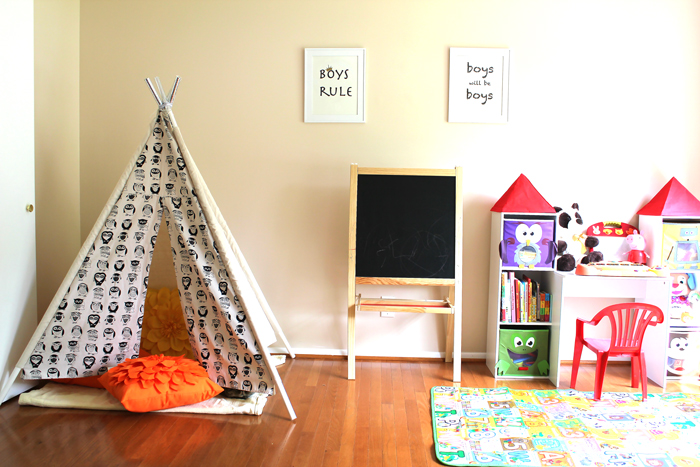 kid's playroom, teepee for kids, playroom design,