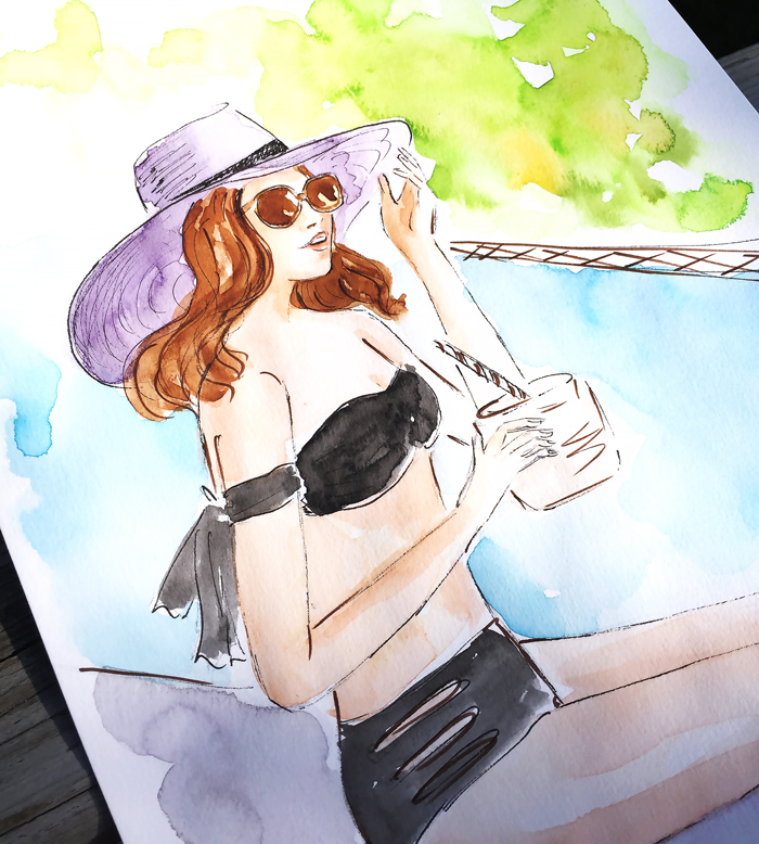 fashion illustration, fashion art by Elena Fay