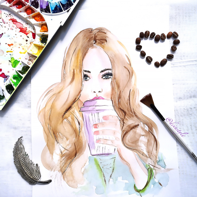 fashion illustration, watercolor art, fashion are, DC fashion illustrator