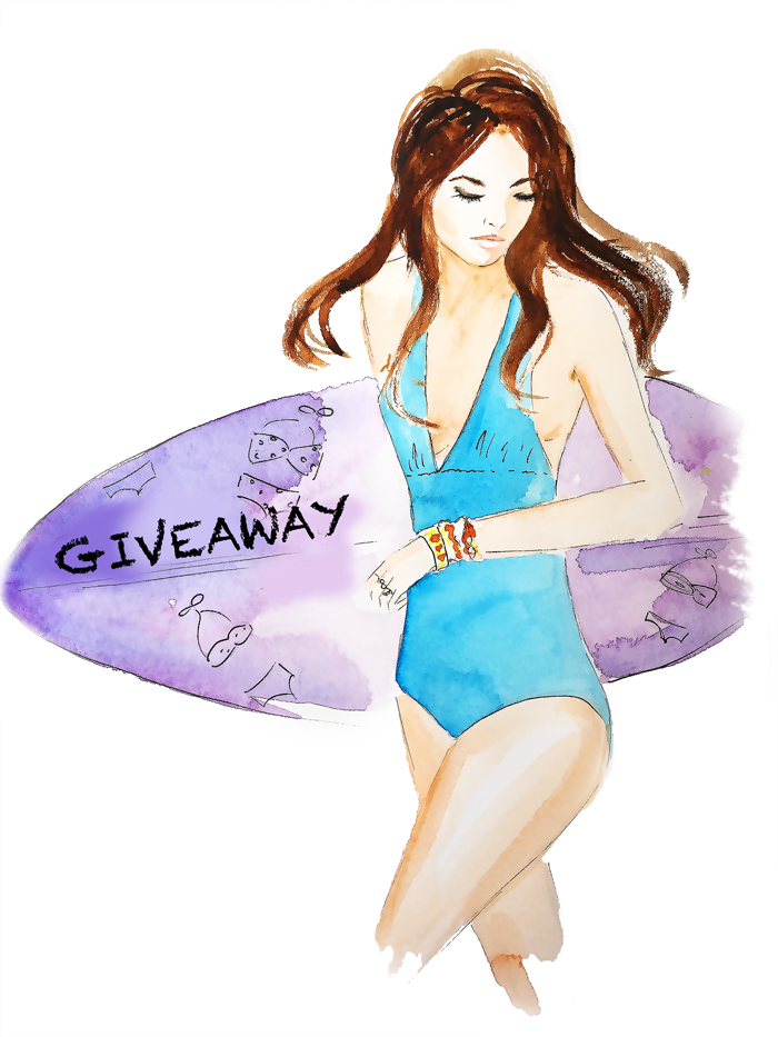 fashion illustration, swimwear sketch, beachwear painting, swimsuit illustration