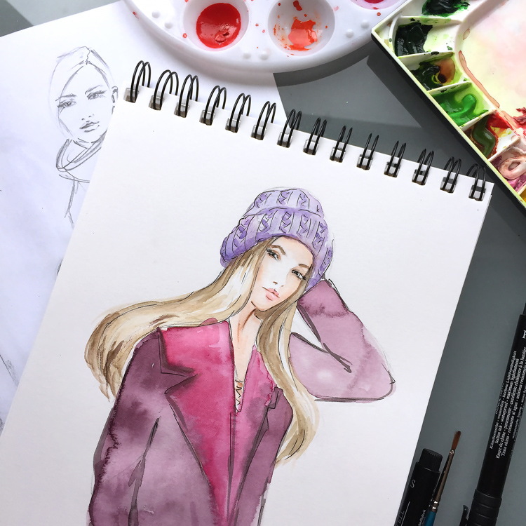 fashion art by Elena Fay
