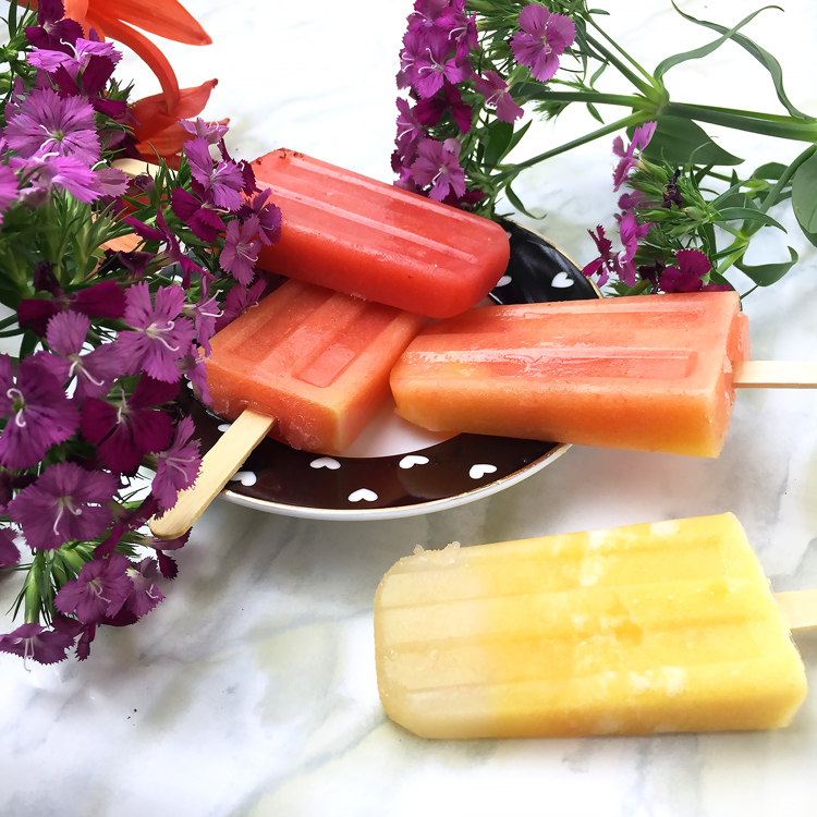 fruit popsicles, coconut water popsicles,