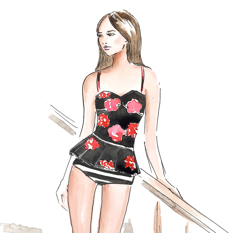 fashion illustration, fashion art, DC fashion illustrator