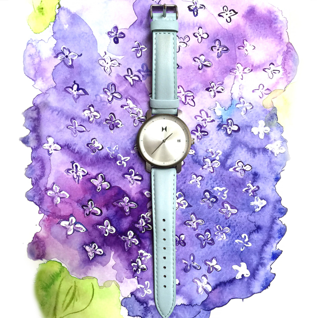 lilacs art, watercolor lilacs, fashion art