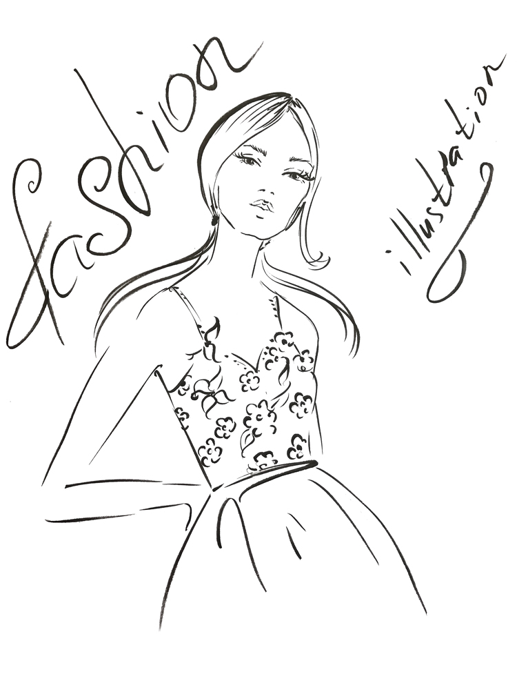 fashion sketching 101, how to draw fashion illustration