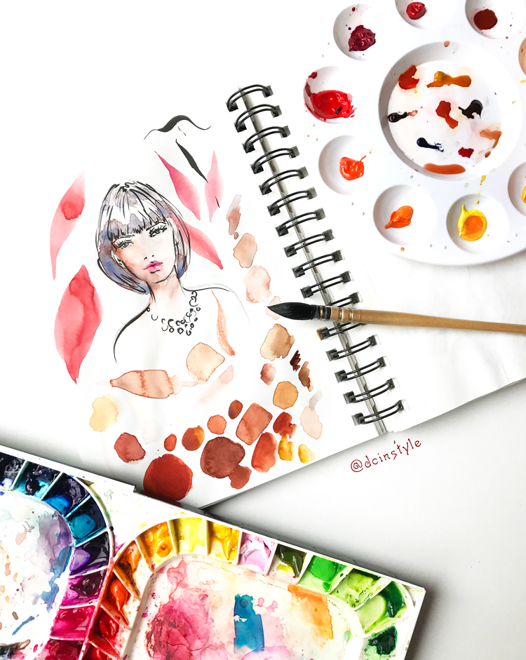 fashion illustration tutorial, Skillshare class