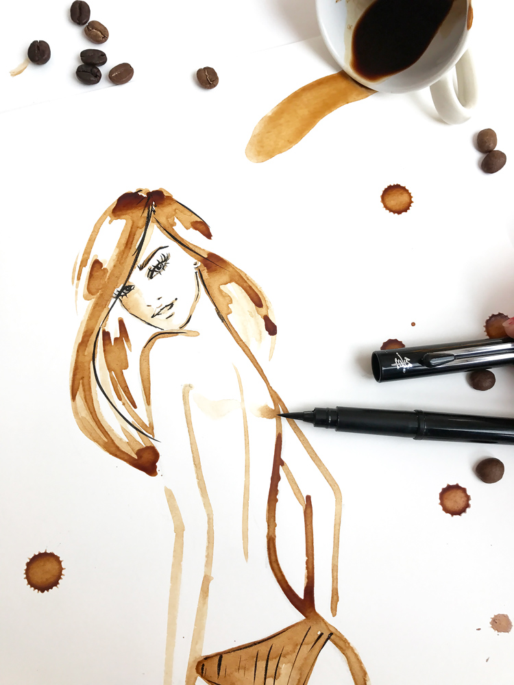 fashion coffee illustration